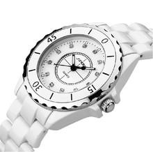 relogio feminino SINOBI Brand Ceramic Strap Watches Women Dress Watch,Quartz Analog Military Watch Waterproof Wristwatch(China (Mainland))