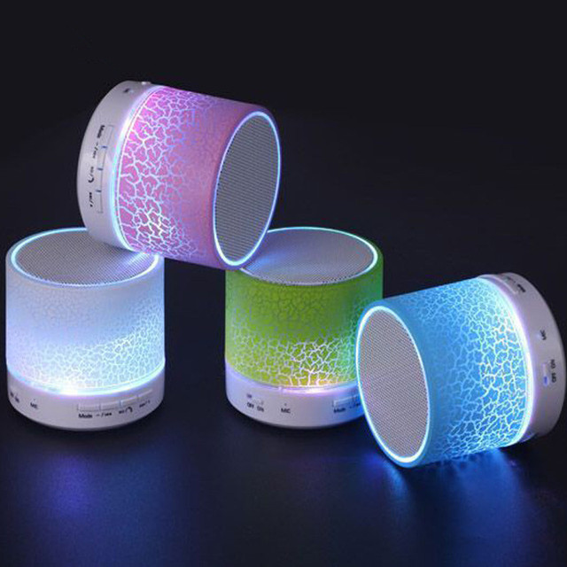 LED Portable Mini Bluetooth Speakers Wireless Hands Free Speaker With TF USB FM Microphone Musical For Mobile Phone iPhone 6s 7