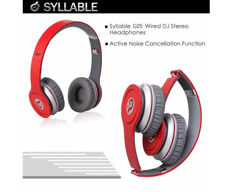 SYLLABLE G05 Wired Headphone Over ear Foldable Bass Headphone Headset with Mic for Mobile Phone Computer Tablet Noise Isolation