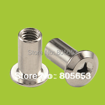 T screw nut furniture fitting chrome plated m8 iron nut  (N1614)