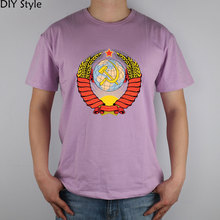 Buy USSR REVOLUTION CCCP short sleeve T-shirt Top Lycra Cotton Men T shirt New DIY Style for $10.00 in AliExpress store