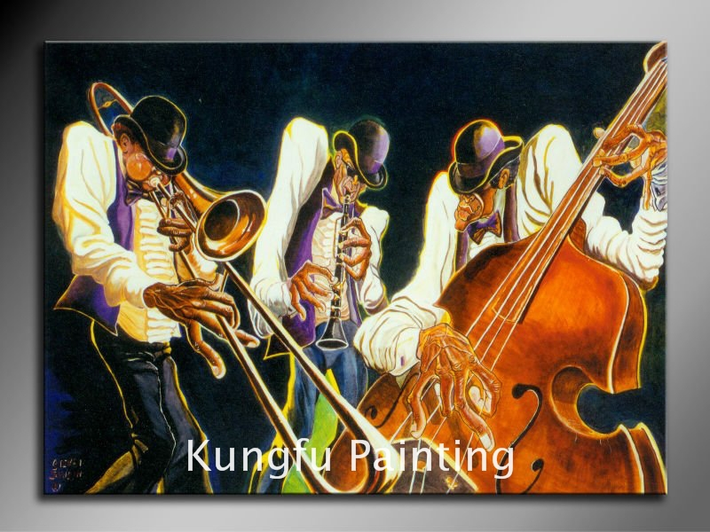 mus508 100% Hand-painted good quality abstract music paintings oil art for home decoration(China (Mainland))