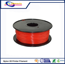 high strength engineering plastic 3D printer filament 1 75mm Nylon PA extruded plastic red colour 3D
