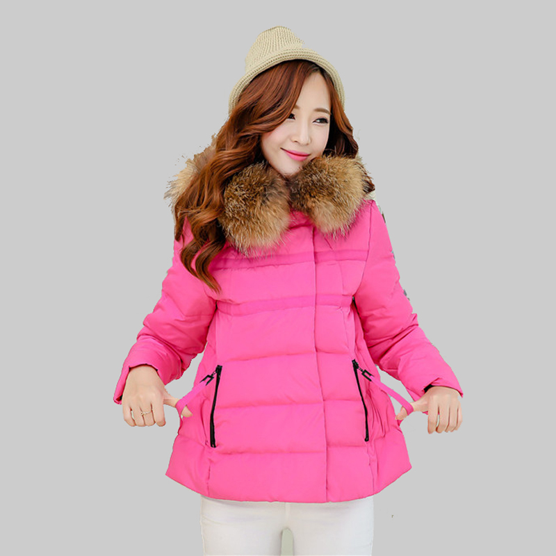 Fashion 2015 New Winter Jacket Women Solid Color Fur Collar White Duck Down Coat Female Hooded Parkas Mujer Casacas Pluma YB787Одежда и ак�е��уары<br><br><br>Aliexpress