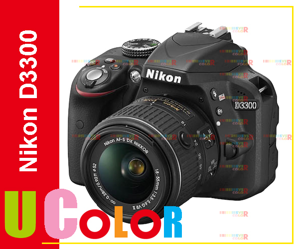 Nikon D3300 DSLR 24.2 MP HD 1080p Digital SLR Camera Body + 18-55mm VR II Lens - BLACK(Hong Kong)
