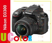 Nikon D3300 DSLR 24.2 MP HD 1080p Digital SLR Camera Body + 18-55mm VR II Lens - BLACK(Hong Kong)
