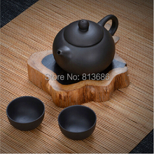 Black Traditional Chinese Purple Grit Travel Teapot Tea cup Set