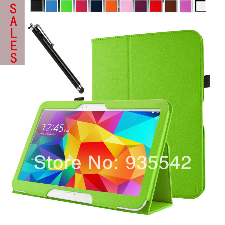 Ultra Thin Folio Slim PU Leather Stand Case Book Cover Samsung Galaxy Tab 4 10.1 inch ( SM-T530 /T531/T535 ) Tablet (Green) - ShenZhen ZPoon E-commerce Store store