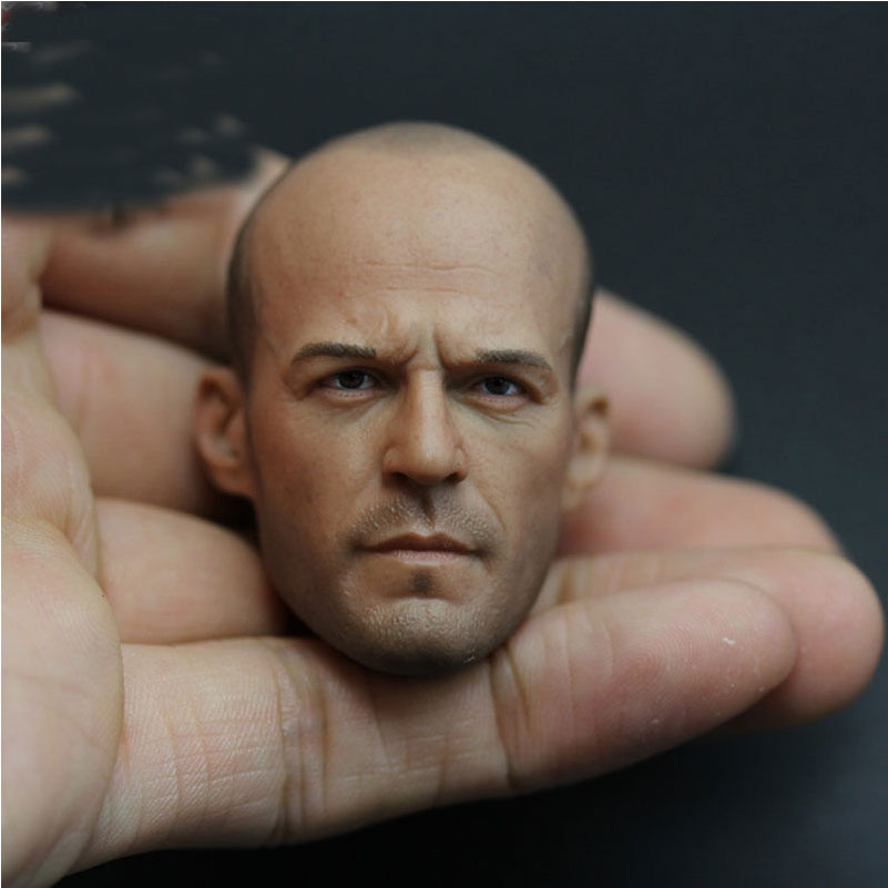 "Hot Action Figure Accessory Custom 1/6 Soldier Jason Statham Head Sculpt Death Squads Head Carving For 12"" Action Figure Toys(China (Mainland))"