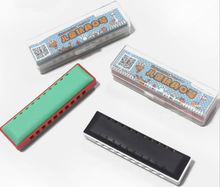 Plastic Harmonica mouth organ Music Educational Toy Instrument For Children Kid WJ-133(China (Mainland))