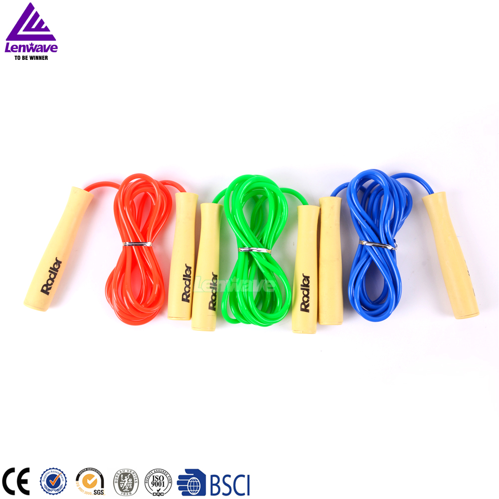 Adults And Children Jump Rope Wooden Handle Blue Red Green Jumping Rope Women Crossfit Rope Fitness Equipment 3 Pcs/lot(China (Mainland))