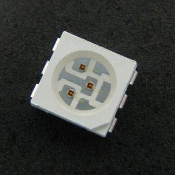 1000pcs/bag 5050 SMD RGB LED with 60mA Forward Current and Reflow Soldering Technique