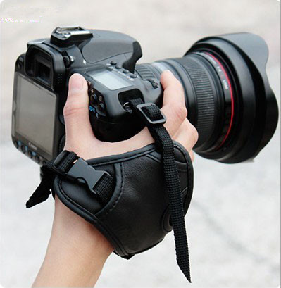 New Black SLR/DSLR Camera Leather Soft Wrist Hand Strap Grip Belt Canon Nikon Sony etc. - Purchasing in one's store
