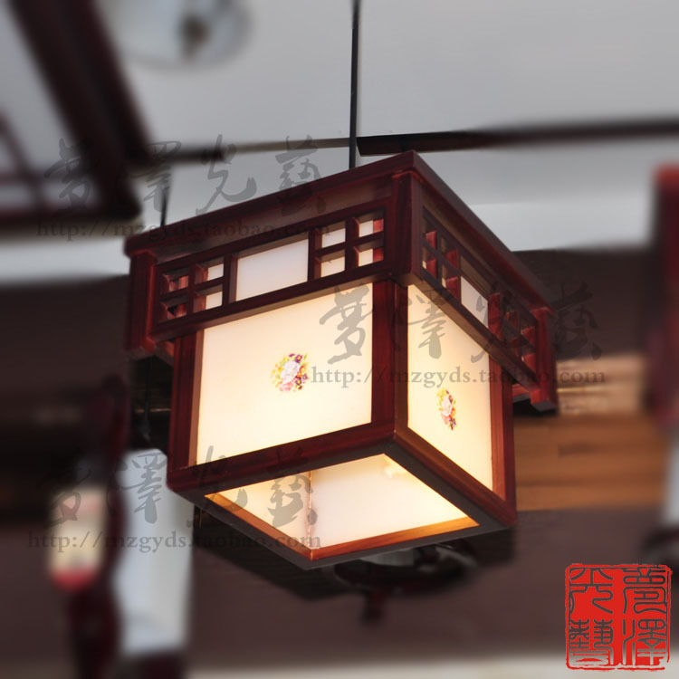 Chinese style pendant light antique wooden acrylic lamp balcony lamp walkway lights entrance lights restaurant lamp engineering(China (Mainland))