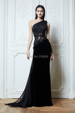 New Arrival One Shoulder Long Sheath Tanya Evening Dress Silk Chiffon Formal Dress(China (Mainland))