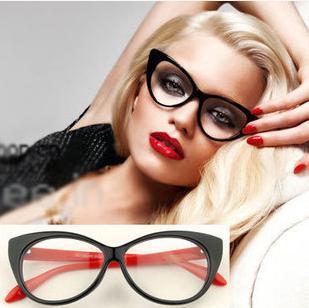 Vintage high fashion designer brands 2015 new women black eye glasses frames oculos de grau femininos points computer glasses