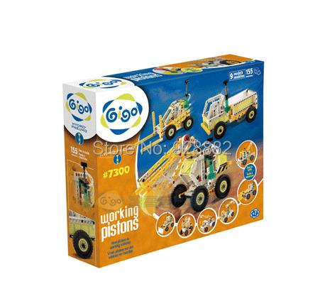 #7300 Gigo 155PCS Building Blocks 9 vehicle models Innovation & Technology Series: WORKING VEHICLES Kids' science toys/juguetes(China (Mainland))
