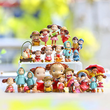 Japan Anime Miyazaki Anime My Neighbor Totoro May/Mei Girl Fairy Garden Figurines Moss Micro Landscape Decoration