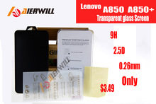 9H Explosion-proof Tempered Screen Protector Films For Lenovo A850 + A850 With Retail Package Free Shipping