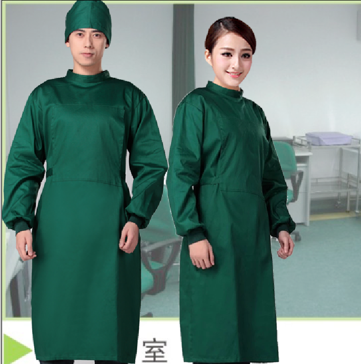 Long sleeve surgical clothing hospital scrubs overalls for men professional womens insulating clothing cheap operating gown coat(China (Mainland))