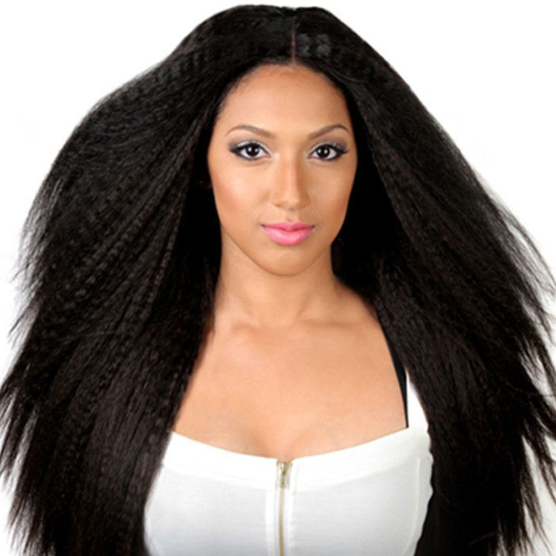 Best Wig Italian Yaki African American Full Lace Human Hair Wigs Best Glueless Brazilian Virgin Kinky Straight Lace Front Wigs(China (Mainland))