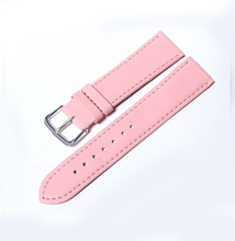 Candy PU leather strap Watchband 20mm 2015 clock fashion high quality needle leather watch color 12-20mm reloj hombre