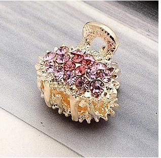 hot selling 2013 fashion hair accessory rhinestone small claw gripper claws E046 - Ornaments made of crystal and diamond are shining gleaming store