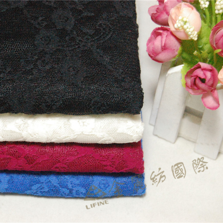 Laces Manufacturers shelf Jin ammonia lace fabric flower dress women bottoming warp knitting lace material 4color latest fashion(China (Mainland))