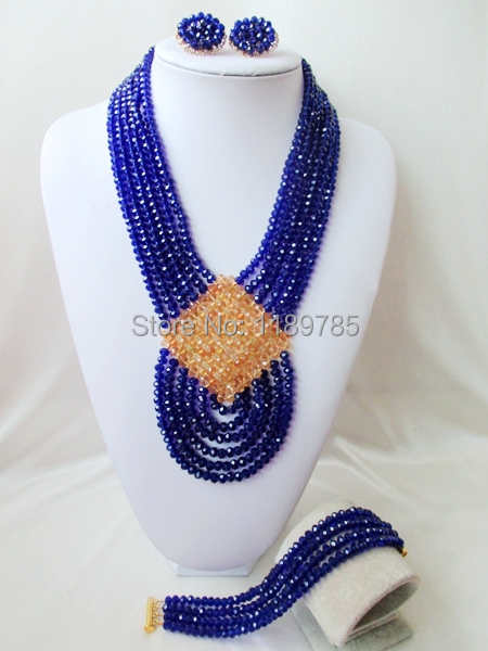 Preferred Special offer Nigerian Crystal Beads Women Fashion Beads Jewelry Set Wedding Bridal Jewelry Set Free Shipping A-11826<br><br>Aliexpress