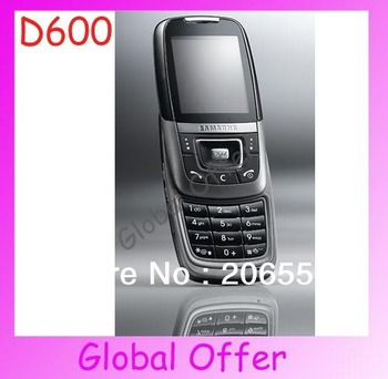 D600 Original Unlocked Samsung D600 mobile phone Bluetooth Camera JAVA Classic Cheap Cell phone 1 year warranty Free S/H