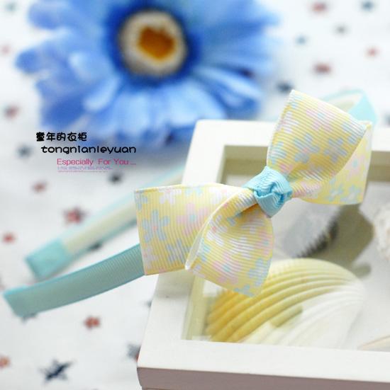 Child hair accessory beautiful hair band child hair bands baby headband yellow asymmetrical hoop mix order free shipping(China (Mainland))