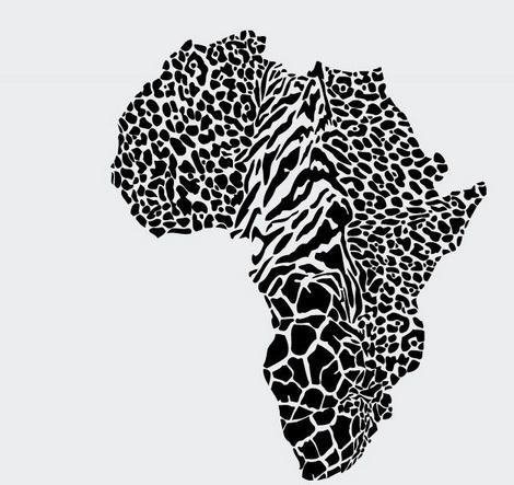Leopard map wall sticker wild animal leopard cheetah skin for African skin decoration