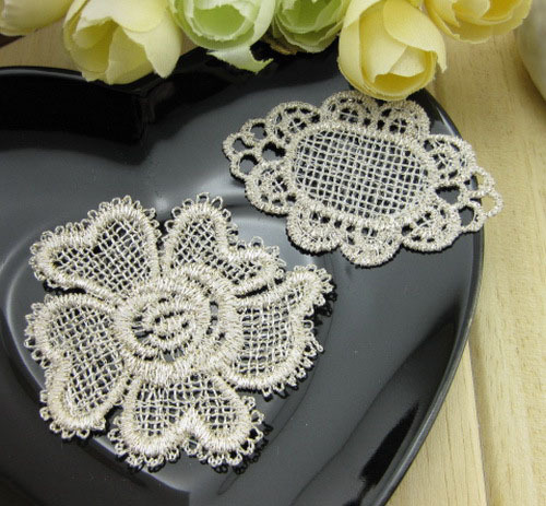 Classical Lace Cotton DIY Tape fabric GOLDEN patch crochet [LACE-BFC01](China (Mainland))