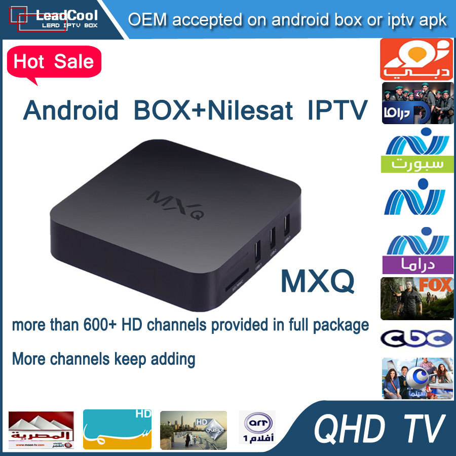 Arabic Iptv Box MXQ Android Iptv Box Android 4.4 With 3 Months Qhdtv Iptv Account Include 650+ Arabic Channels Europe Channels
