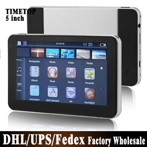 Free DHL Fedex 50pcs/lot 5 inch HD Car GPS Navigation 800M/FM/4GB 2015 Maps For Europe/Russia/Spain/Brazil/Belarus/USA+Canada(China (Mainland))