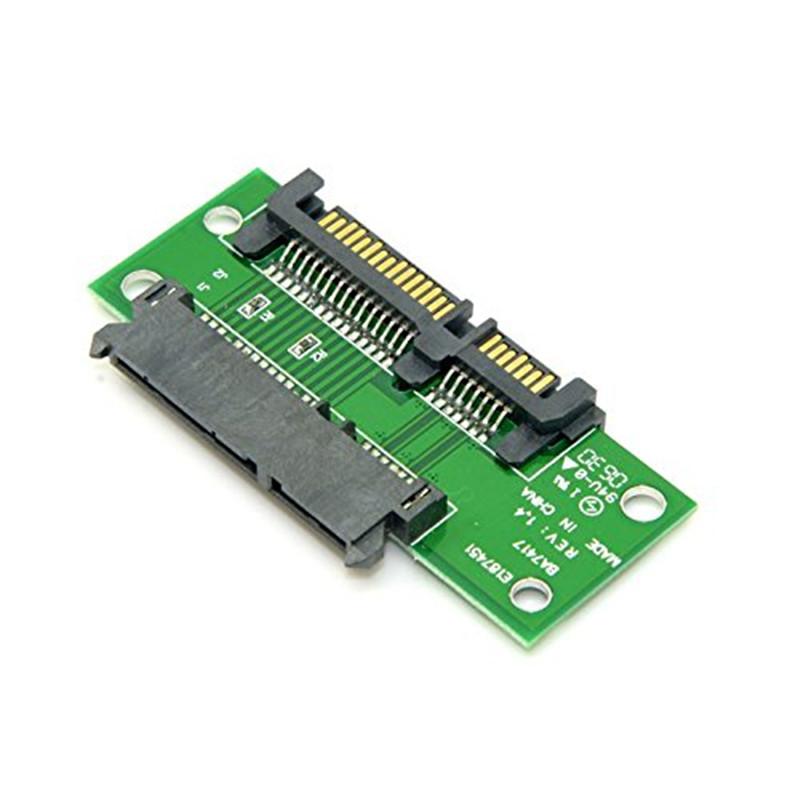"3.5"" & 2.5 inch SATA 22Pin 7+15 Male to SATA 22P Female Extension Convertor Adapter PCBA(China (Mainland))"