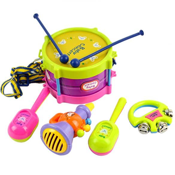 Toy Drum Musical Instruments : New pcs roll drum musical instruments band kit kids