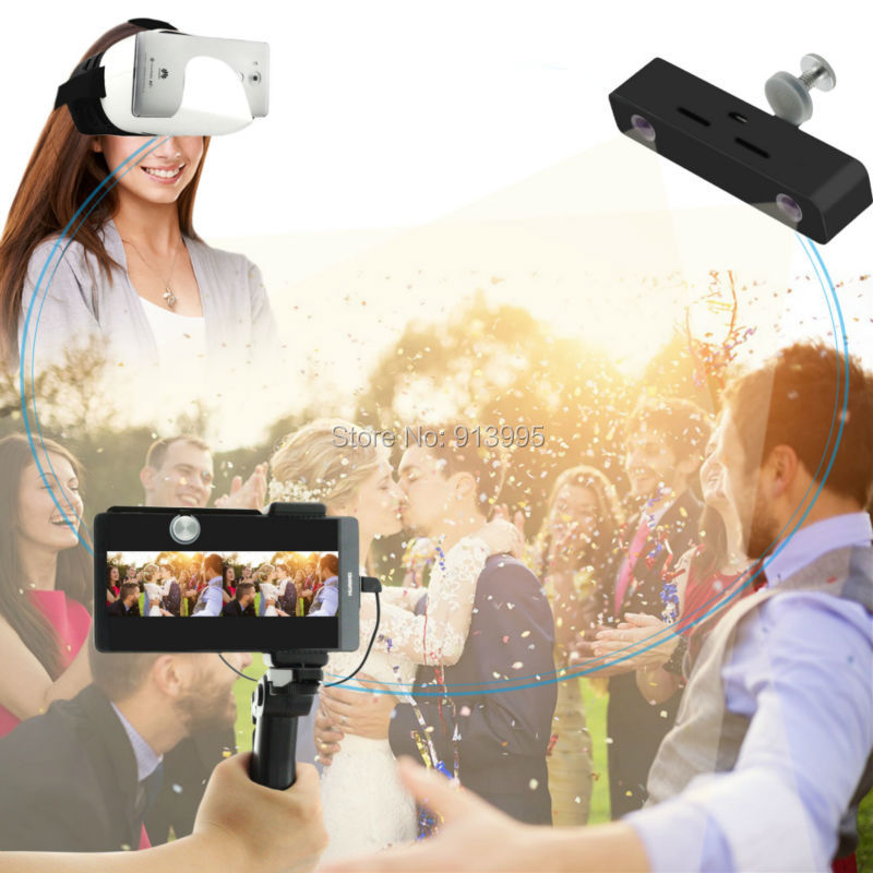 3d virtual reality video camera + 3D Video glasses headset all in one for Android smartphones