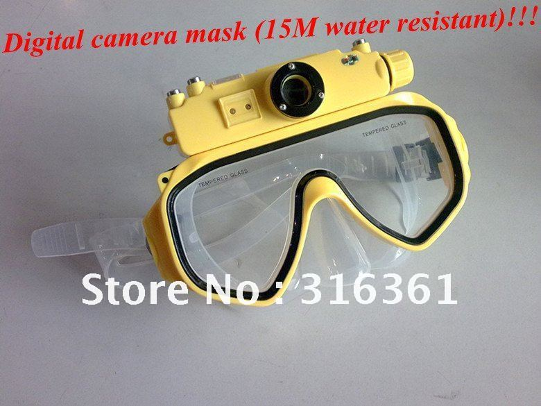 Digital camera mask (15M water resistant) build in 4GB USB PC camera Free shipping!(China (Mainland))