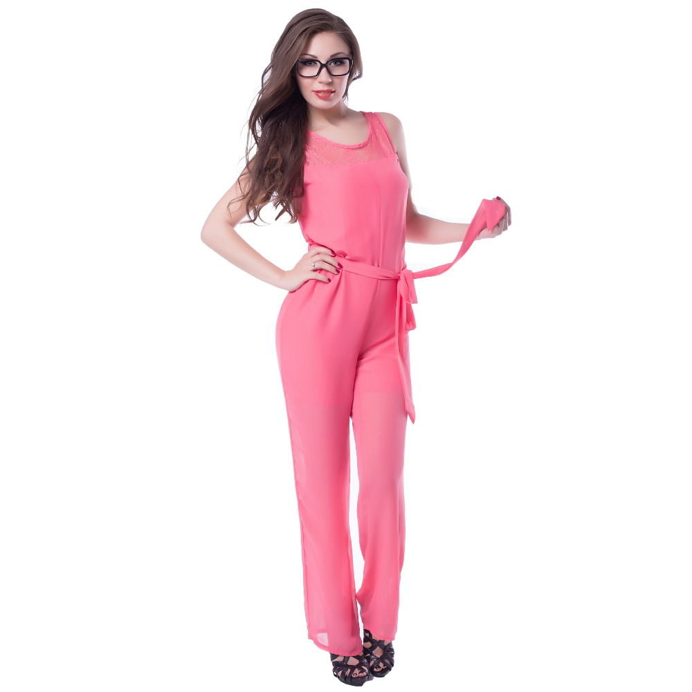 Wonderful 2015 New Rompers Women Jumpsuit Sexy Autumn Long Rompers Fashion Mesh