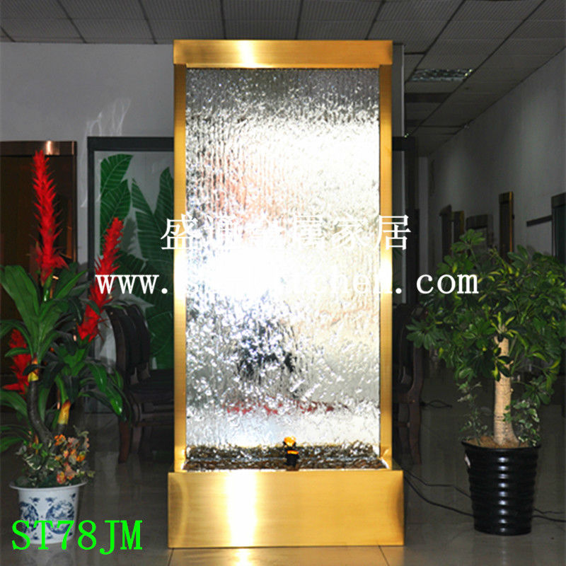 Indoor stainless steel water curtain /fountain/waterfalls/water screen/water fountain - Shengtong metal Products factory store