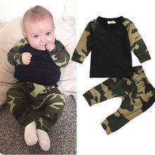 Buy autumn Newborn toddler infant Baby Boys Girls Kids army green camouflage T-shirt Tops+Pants Leggings Outfit children Clothes Set for $5.49 in AliExpress store