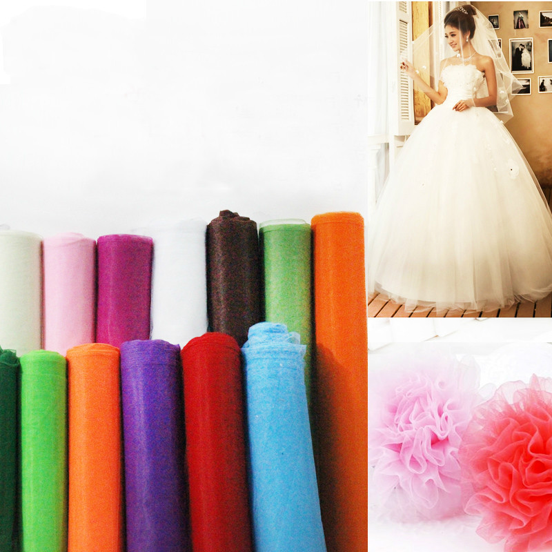 10meters Hard American mesh fabric wedding dress cloth skirt yarn fabric DIY sewing craft fabric by meter(China (Mainland))