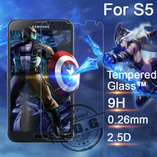0.26mm 9H Explosion Proof Anti scratch LCD Tempered Glass Film For Samsung Galaxy S5 G900 G9006 G9008 Screen Protector Film