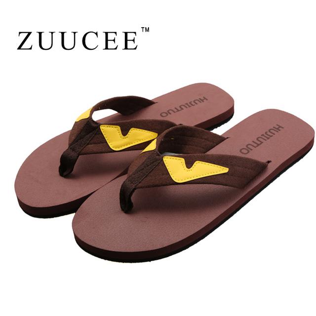 Zuucee новый мужской вьетнамках мода маленький монстр тапочки женщины сандал свободного ...