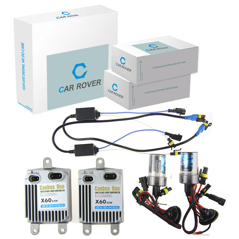 X60 Fast Start HID Kit AC Xenon kit Car Headlight bulbs Canbus 12V 55W H1 H3 H7 H8 H11 HB3 9005 9006 HB4 Xenon Convention Kit(China (Mainland))