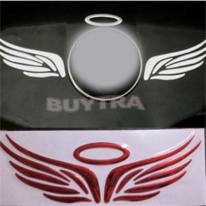 Free Shipping Angel Wing 3D car sticker Chrome Badge Emblem Decal 3 colors available New 3D