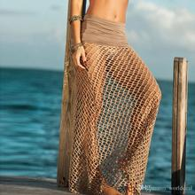 20pcs/lot Attractive Fishnet Design Long Dress Hollow Knitted Bikini Cover Up Ladies Home Costume QBZ127