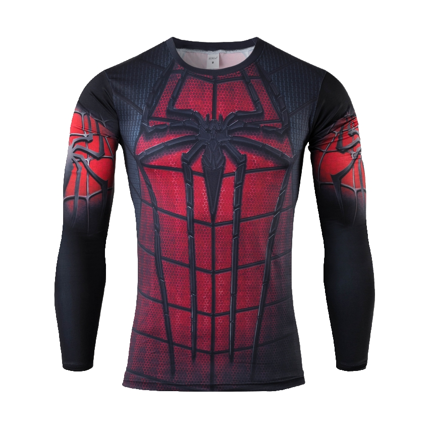 2016 Compression Armour Base Layer Long Sleeve Thermal Under Top Tee Shirt men sport fitness T shirt(China (Mainland))