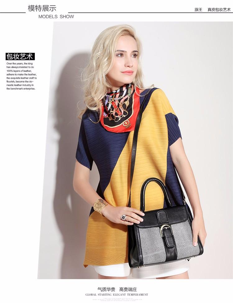 Qiwang NEW England Designers Real Leather Handbag Luxury Brand 100% Cowhide Leather Crossbody Bag Tote Fashion for Girl